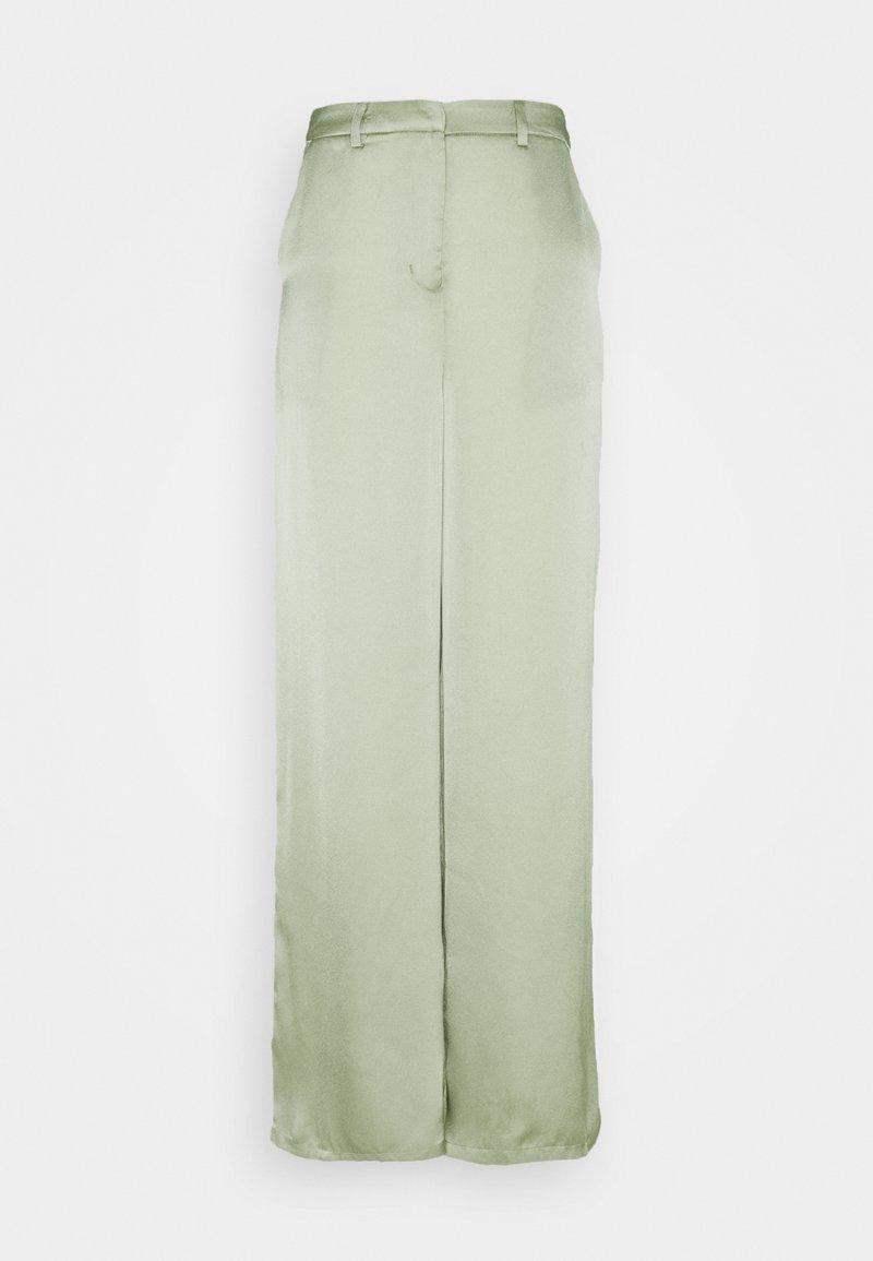 Glamorous - WIDE LEG TROUSERS WITH POCKET DETAIL - Pantalon classique - sage