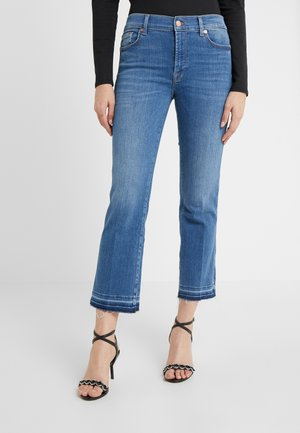 CROPPED BOOT UNROLLED - Bootcut jeans - dark gray