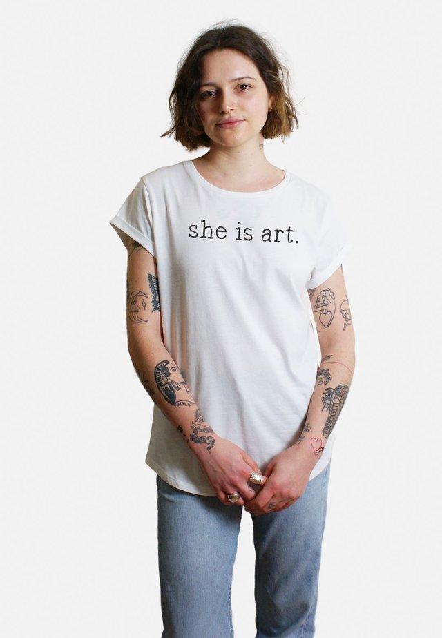 LARGE  - T-shirt print - white
