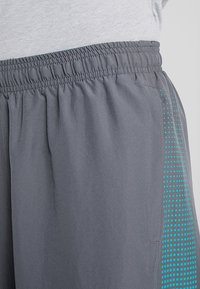 Under Armour - GRAPHIC SHORTS - Korte sportsbukser - pitch gray/teal rush - 4