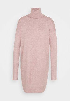 VMBRILLIANT ROLLNECK DRESS - Jumper dress - woodrose melange