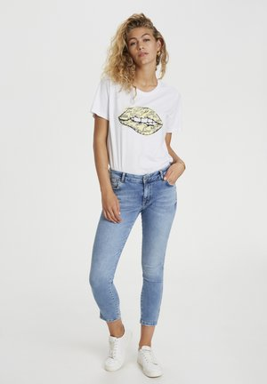 T-shirt print - bright white / yellow print
