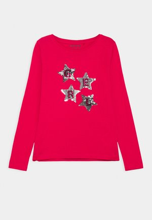 KIDS SEQUIN STARS - Long sleeved top - hochrot