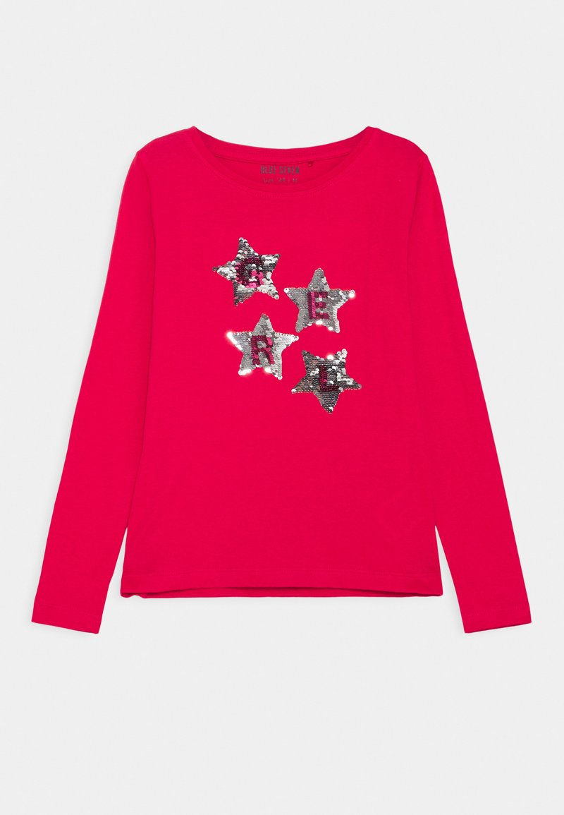 Blue Seven - KIDS SEQUIN STARS - Long sleeved top - hochrot