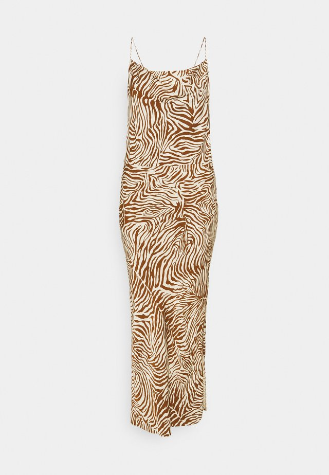 DRESS - Maxi-jurk - brown