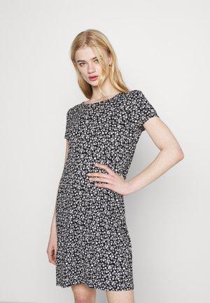 ONLBERA BACK DRESS - Trikoomekko - black/white