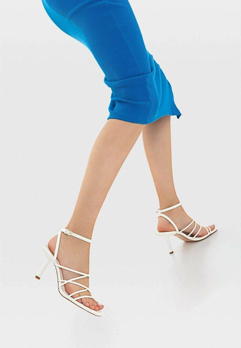 Stradivarius - Sandals - white
