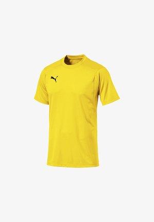 LIGA  - Print T-shirt - gelbschwarz