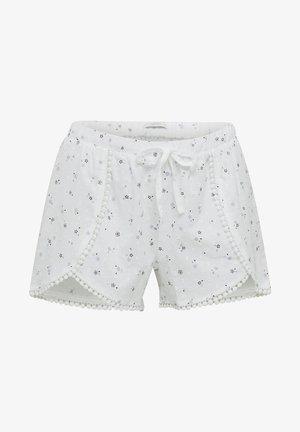 MIT SPITZE - Pyjama bottoms - white