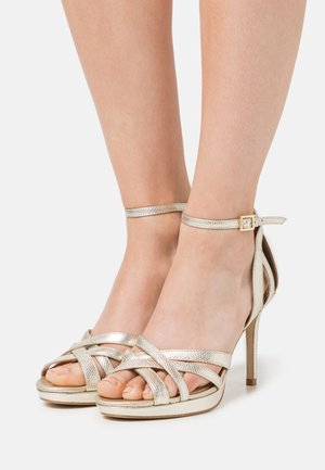 LEATHER - High Heel Sandalette - gold