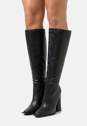 PIXXEL - High heeled boots - black