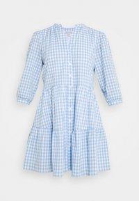 GINA GINGHAM SMOCK DRESS - Shirt dress - pale blue