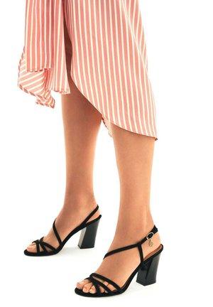 SUZETTE  - Sandály na vysokém podpatku - black
