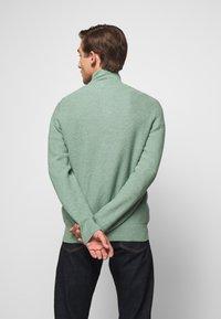 Polo Ralph Lauren - COTTON HALF-ZIP SWEATER - Stickad tröja - seafoam heather - 2