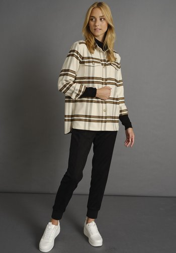 KARIERTES - Button-down blouse - braun