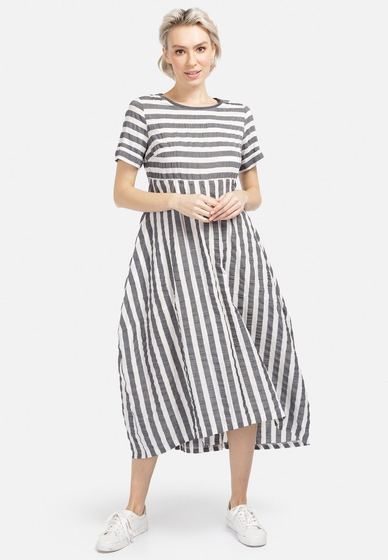 HELMIDGE - A-LINIEN-KLEID SOMMERKLEID - Day dress - grau