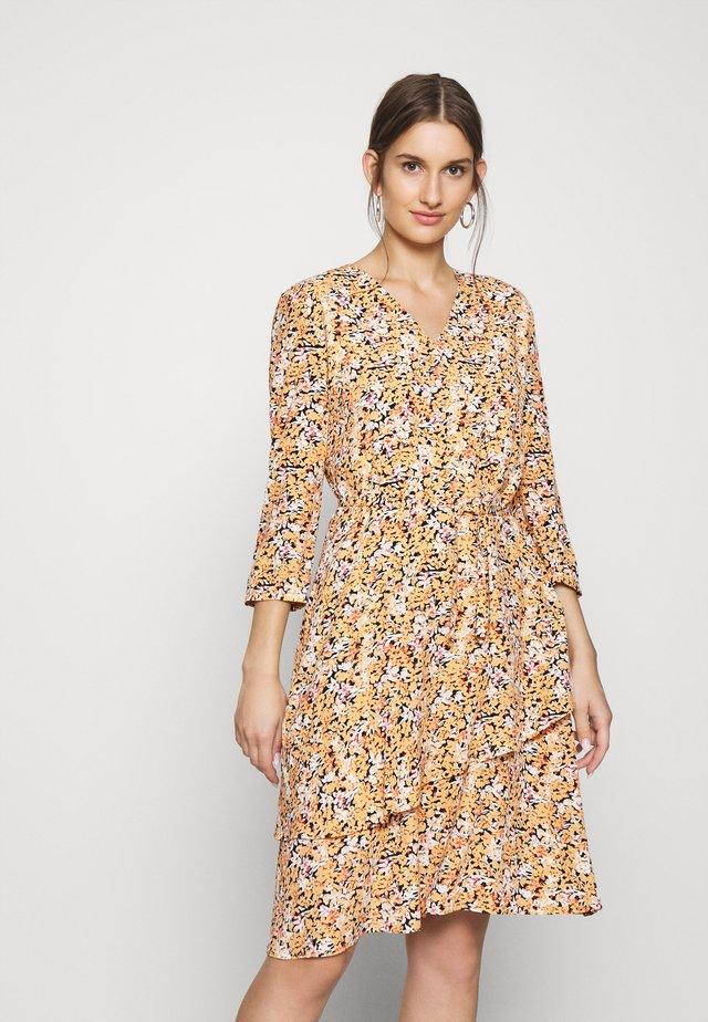 FRILL DETAIL DRESS - Day dress - yellow