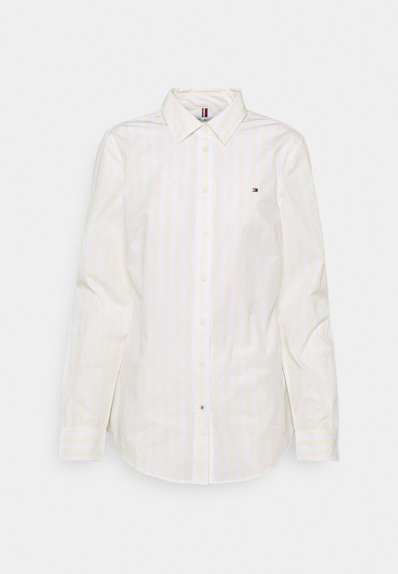 Tommy Hilfiger - REGULAR SHIRT - Button-down blouse - banker/ frosted lemon