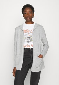 Vero Moda - VMDOFFY OPEN - Cardigan - light grey melange - 0
