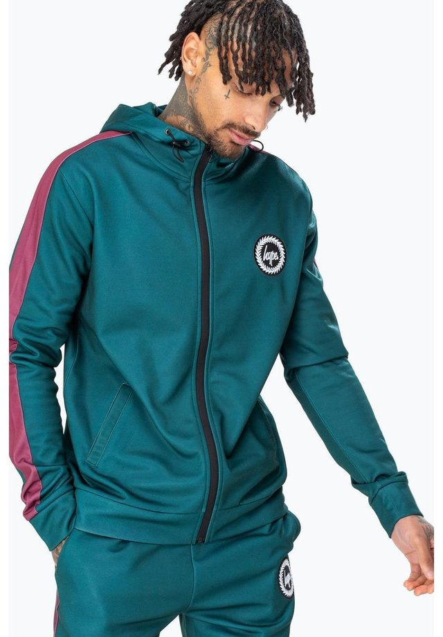 FOREST TRACK - Zip-up hoodie - forest