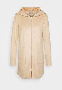 ONLY - ONLHANNAH HOODED JACKET - Short coat - light brown - 3