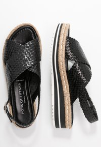 Pons Quintana - Korkeakorkoiset sandaalit - black - 3