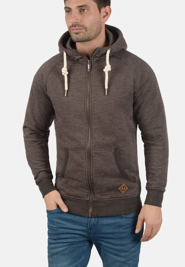VITU - Zip-up hoodie - dark brown