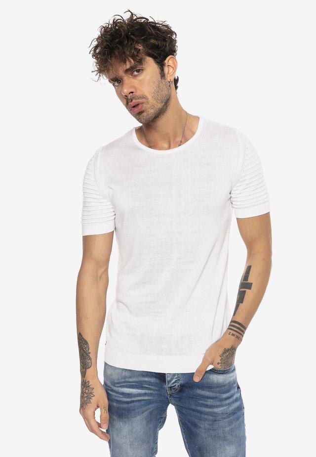 BEAUMONT - Basic T-shirt - white