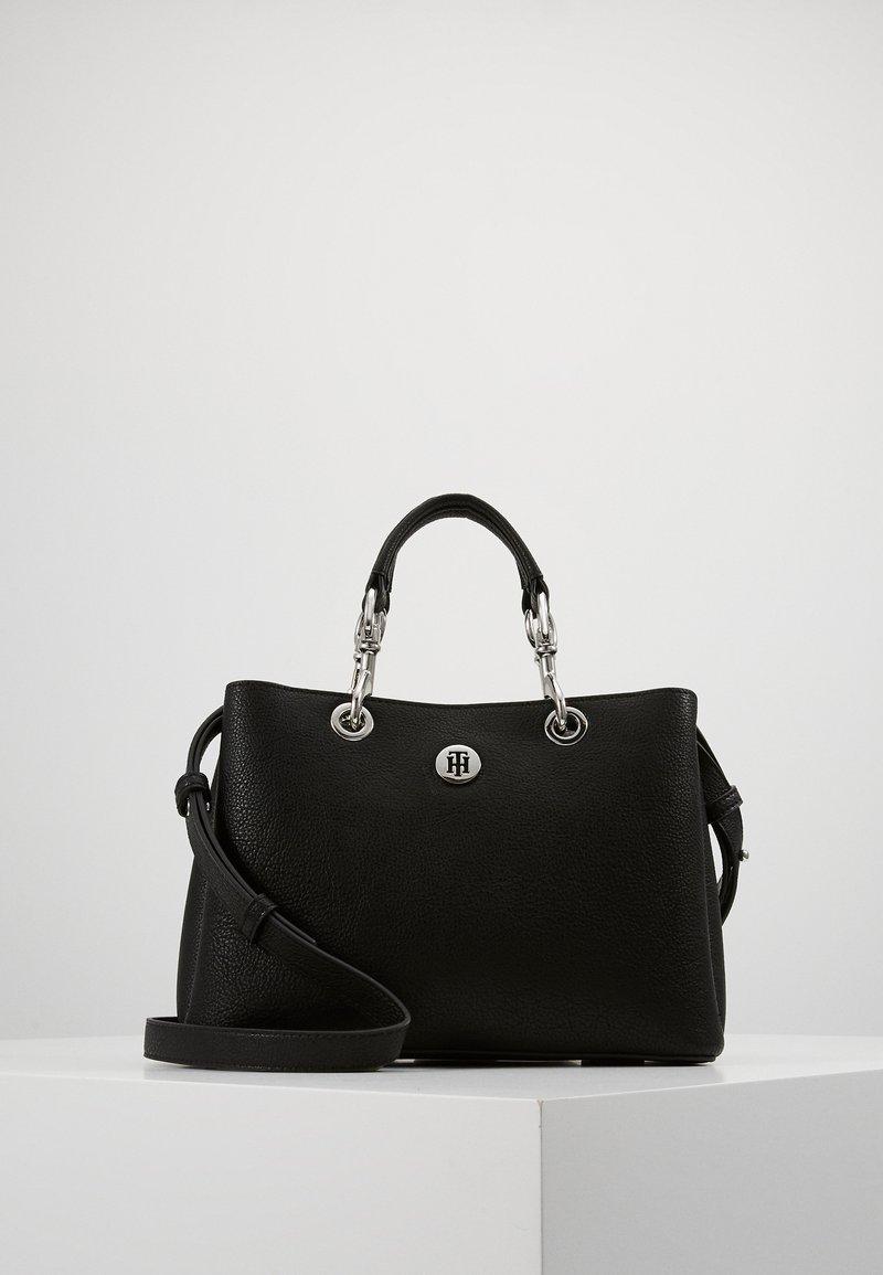 Tommy Hilfiger - CORE SATCHEL - Handbag - black
