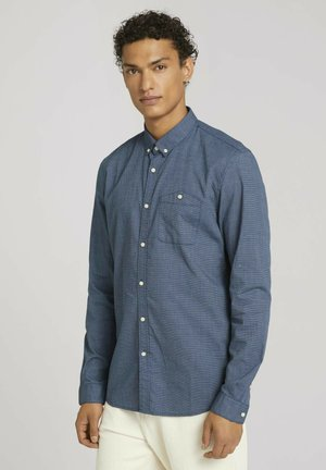 STRUKTURIERTES - Shirt - blue shades crossed dobby