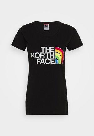 RAINBOW TEE - Camiseta estampada - black