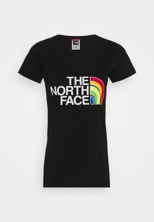 RAINBOW TEE - Print T-shirt - black