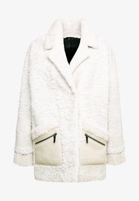 VSP - ZIPPER JACKET - Short coat - merino wendy white - 4