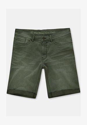 Jeans Shorts - dunkel oliv