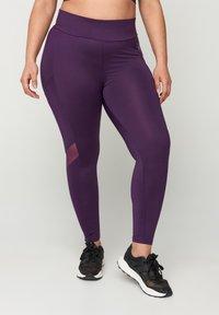 Zizzi - Leggings - Trousers - purple - 0
