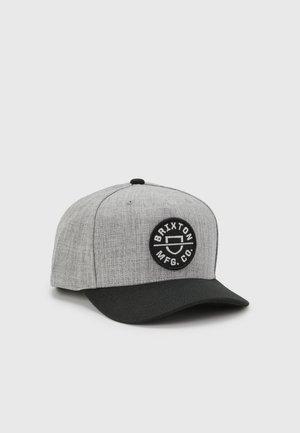 CREST SNAPBACK UNISEX - Lippalakki - heather grey/black