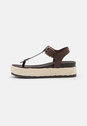 ILARIA - T-bar sandals - dark brown