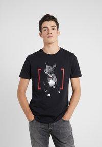 HUGO - DUPPY - Print T-shirt - black - 0