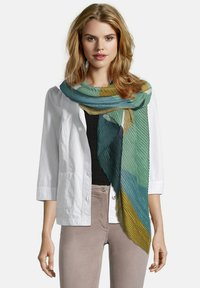 Betty Barclay - BASIC MIT PLISSEE - Scarf - dark blue/green - 0