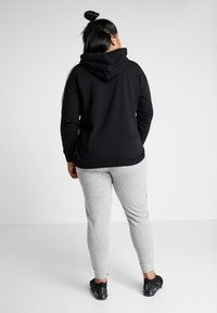 Active by Zizzi - AEXHALE HOODIE - Mikina skapucí - black - 2