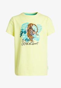 WE Fashion - Print T-shirt - bright yellow - 3