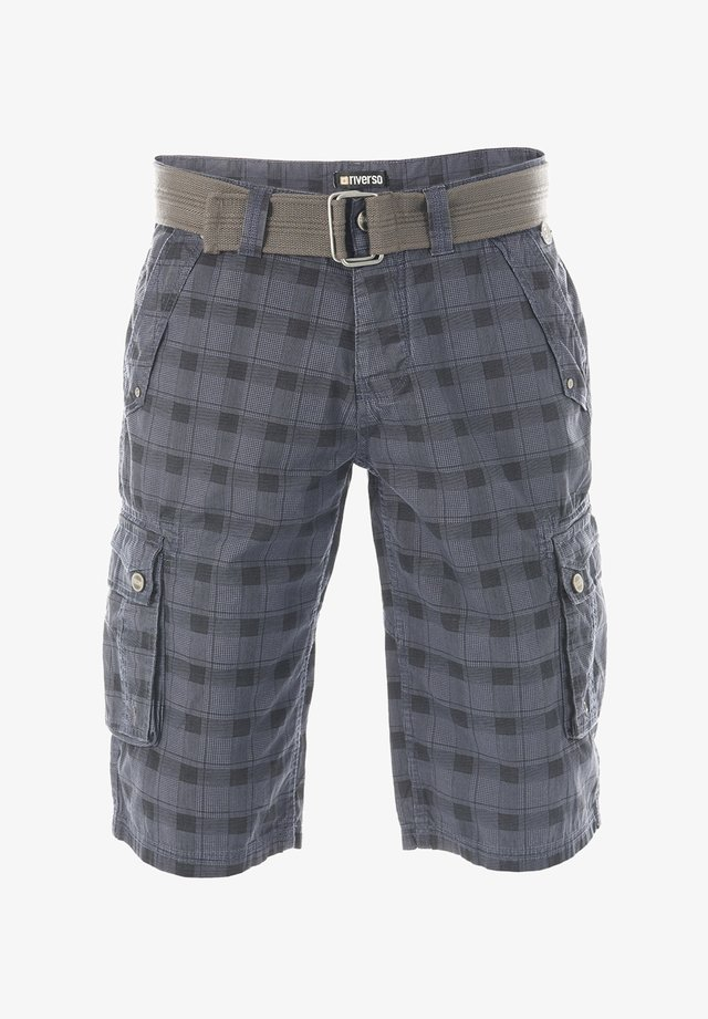 RIVANTON - Shorts - washed indigo blue black