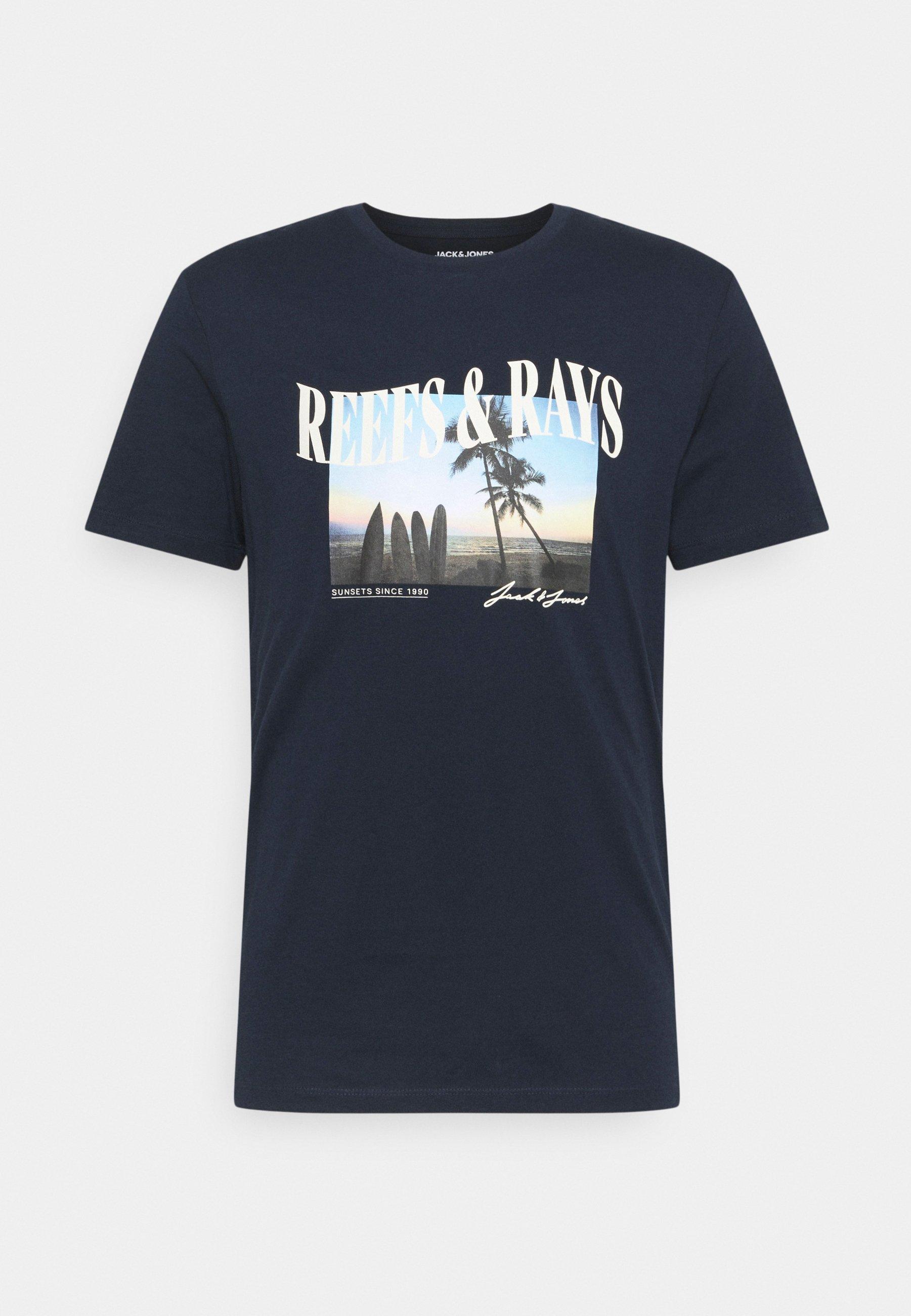 Men JORMALDIVES TEE CREW NECK - Print T-shirt