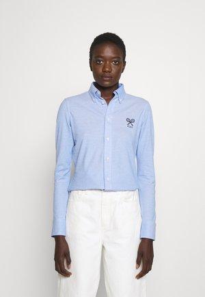 Button-down blouse - harbor blue