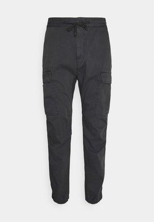 MELLOW - Cargo trousers - dark grey