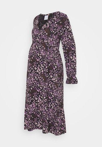 NURSING DRESS - Jerseykjole - black/purple