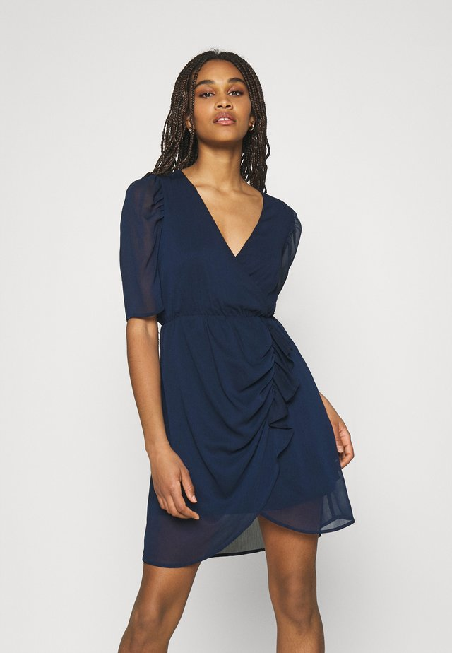 VMJEAN WRAP DRESS  - Sukienka koktajlowa - navy blazer