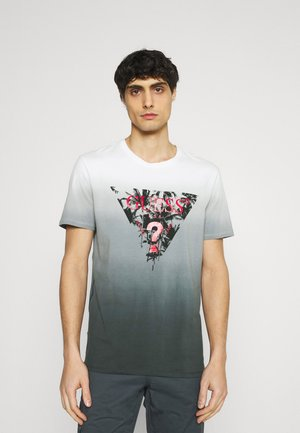 PALM BEACH TEE - Print T-shirt - black/white