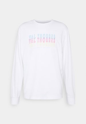 FRONT BACK GRAPHIC LONG SLEEVE UNISEX - Top s dlouhým rukávem - white