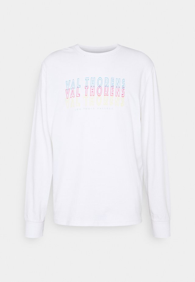 FRONT BACK GRAPHIC LONG SLEEVE UNISEX - Pitkähihainen paita - white